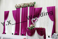 Cheap Price White And Wine Red Designs Wedding Backdrop Curtain Wedding Drape