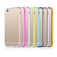 New Ultra Thin Slim Aurora Silicone Interior + pc bumper Frame for iphone 6 4.7 inch pc silicone phone bumper