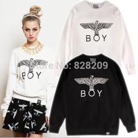 FREE ShippingColor 2  New Fashion Boy London Printed Eagle Hoodies Sport Sweatshirts HipHop Punk Casual Jackets Hoody Dress