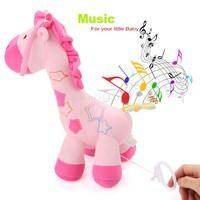 Hot Sale 27 x 30 x 15cm Kids Baby Plush Toy Stuffed Cute Plush Giraffe Colorful Doll Gift Free shipping SV19 SV009913