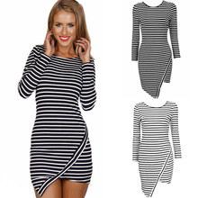 Sexy Mini Stripe Dress Horizo