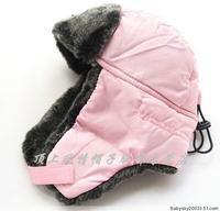 Export Russia beanie earmuffs children's lei feng's cap cap pink girls winter hats