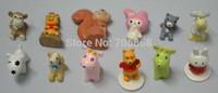 artificial creative resin mini waterproof animal toys