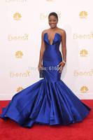 Keke Palmer 2014 Emmys Royal Blue Taffeta Mermaid Celebrity Red Carpet Dresses
