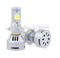 1Set NEW 2014 LED CAR BULB 72W 6400LM XENON WHITE LED HEADLIGHT LAMP H4 xenon For Chevrolet Cruze Free Shipping