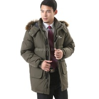 2014 New Thick Outdoor Parkas and Long Nagymaros Collar White Winter Duck Down Jacket Men