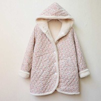 Clothing autumn and winter wadded jacket thickening with a hood lamb's wool outerwear cotton-padded jacket reversible