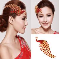Phoenix shiny silver tiara crown bridal hair accessories wedding inserted sparse hair accessories wholesale wedding dresses