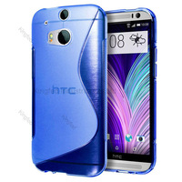 1000pcs/Lot TPU S  Line GEL Case Cover for  HTC ONE 2 M8