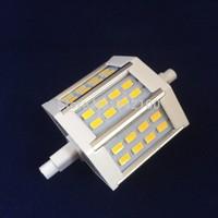 10pcs/lot  R7S LED 78.2mm 10W 24leds SMD5730 White/Warm White Light LED Corn Bulb 85-265V Free Shipping