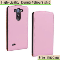 Genuine Real Leather Flip Case Cover For LG G3 Mini D722 D725 D728 Free Shipping