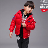 New Arrival 2014 hot selling fashion boys'clothing winter hooded jacket plus white duck down thermal outwear WCJ-001