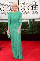 Helen Mirren Lace Embroidery Golden Globes 2014 Best Dressed Celebrity Red Carpet Dresses