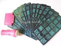 16PCS/lot Nail Stamping Plates TO17-32 + 1 Stamper Set
