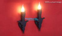 All The World Hot Selling Modern Creative Mesmeri Candle Wall Lamp Metal wall light 1 Light Fixture BlackFree Shipping