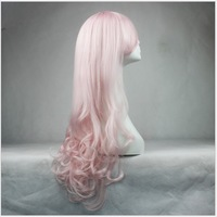 Women's cheap wigs pink Long wavy synthetic hair wig for women synthetic cosplay wigs