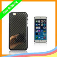 "100Pcs/lot Carbon fiber Metal Steel case for iphone 6,For iPhone 6 4.7"" Case Metal Stainless Steel Mirror Case DHL free shipping"