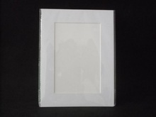Free shipping Acid free white photo mats units  to fit 4x6 photo     ( pre-cut mat and backing and plastic bag )(China (Mainland))