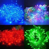 Colors EU Plug 100 LED 220V 10m String Fairy Decoration Xmas Party Wedding Light