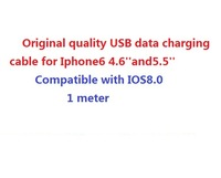 1000pcs/lot,Original quality USB data cable 8 pin Charging Cable For iPhone6 for iphone5 5S 5CSupport IOS8 1m DHL free