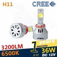 1Se H11 HIGH POWER CREE 72W LED FOG LIGHT 6400LM SUPER BRIGHT LED HEADLAMP BULB xenon HID Free Shipping