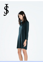2014 autumn new European style women's round neck long-sleeved casual dress ,WD0531