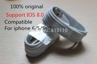 Free shipping 100% Genuine USB Data Sync Charger Cable Lead For Apple iPad 4 ipad mini iPhone 6 5 5c 5s Original Cable IOS 8.0