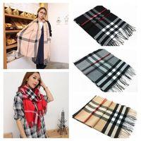 Hot sale Fashion Women Man Tartan Check Striped Plaid Shawl Check Winter warm Scarf Tassels