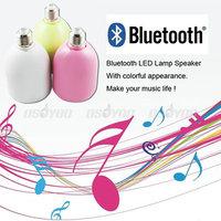 Brand New Saling Wireless Bluetooth 3.0 Music Audio Speaker E27 Lamp Light Bulb ,free shipping &drop shipping