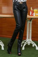2014 Autumn Winter dress Korean hot popular  high waisted skinny pants PU leather pants pencil pants Slim pants 3