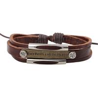 Free Shipping Fashion Hand Made Oxhide Weave Bracelet, Copper Nameplate and Stone Decorated Bangle.