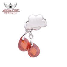 Fashion jewlery 2014 925 Sterling Silver Jewelry floating charms Fine Jewelry for bracelet accessories Memnon Jewelry YZ689