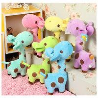New Lovely Giraffe Soft Plush Cartoon Toy Sucker Strap Animal Dolls Kid Gift Favor #65305