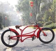 Crown Howe harley-davidson bike personality extended retro beach bike vehicles High carbon steel frame disc brake(China (Mainland))