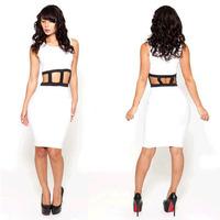 In stock sexy vestido estampado bandage dress vestido informal sale new fabric dress to party S M L Dropship RYT467