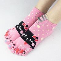 NEW Antibacterial Breathable Short Tube Cotton Five Toe Socks Leisure socks 5Pair Free Shipping