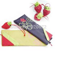 Creative large strawberries strawberry shopping bag fashion folding portable storage bag
