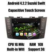 Glonass Android 4.2.2 Car PC for Suzuki Swift 2011 2012+Dual Core CPU 1Ghz+RAM 1GB+ROM 8GB+3G Wiifi host+Dual Zone+iPod function