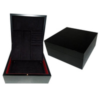 2014 New Luxury Matte Black Wooden Make Up Case,Cosmetic Organizer Box,RING BOX, Jewelry Box For Man, Gift boxes
