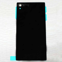Original Battery Back Cover glass Housing Door With Adhesive For Sony Xperia Z1 L39 C6902 C6903 C6906 C6943 L39h Black
