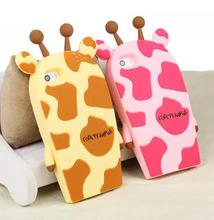 Pink Yellow 3D Giraffe