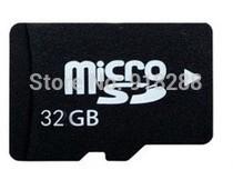 High quality Factory price 50pcs/lot micro 32GB SDHC TF Flash Memory Card class 10 free good SD adapter New(China (Mainland))