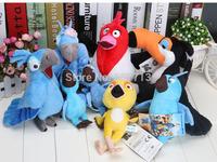 80PCS Movie Rio blu jewel Rafael Nico Pedro Tiago Carla Bia Plush Soft Toys Set Stuffed Animal Doll for kids' gift