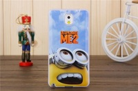For Samsung Galaxy Note 3 III Note3 N9000 N9005 Case Cartoon Model Despicable Me Yellow Minion Cover Cases+Free Screen Protector