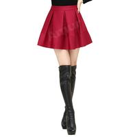 Amur Women Ball Gown Pleated Vintage Skirt High Waist 6 Color saias longa femininas