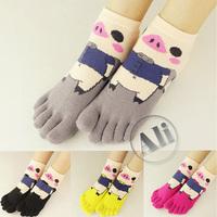 NEW Antibacterial MS Breathable Short Tube Cotton Five Toe Socks Leisure socks 10Pair Free Shipping