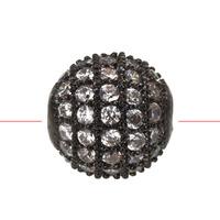 8pc Black Gun Metal Crystal Ball Spacer Bead 8mm A1233
