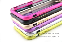 Capa Para Celular Hot Sale Mobile Cell Phone Bumper Aluminum Metal Protective Frame for iPhone 6 Plus 5.5 with Side Metal Button