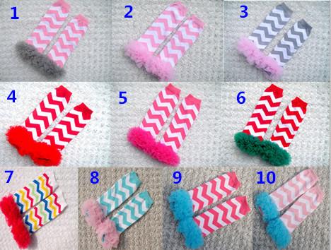 Retail 1 pair baby girls chevron leg warmers kids pink ruffle lace knee pads children toddler winter Arm warmers Birthday gifts(China (Mainland))