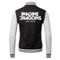 imagine dragons 2014 new winter men's cardigan sweater personalized rock lovers male coat
